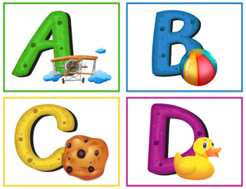 Objects Alphabet Flashcards; Kindergarten; Preschool; Homeschool; ABC; Literacy