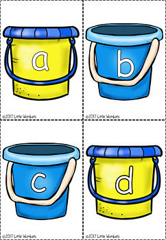 Alphabet Flashcards - Beanbag Toss - Alphabet Recognition Marking Grid Included