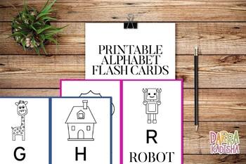 Alphabet Flashcards – Black & White