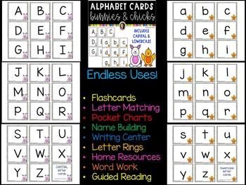 Alphabet Flashcards | Bunnies and Chicks