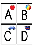 Alphabet Flashcards (Capital Letters Only)