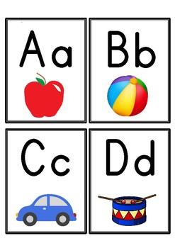 Alphabet Flashcards (Capital & Lowercase)
