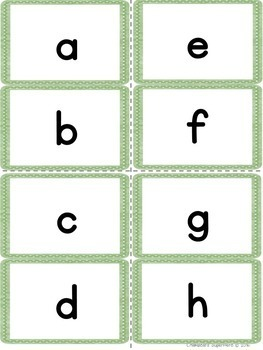 Alphabet Flashcards: Capital and lowercase letters