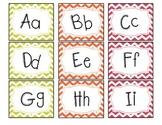 Alphabet Flashcards- Chevron