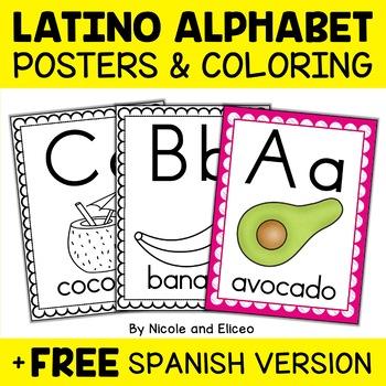 Latin American Phonics Alphabet Posters