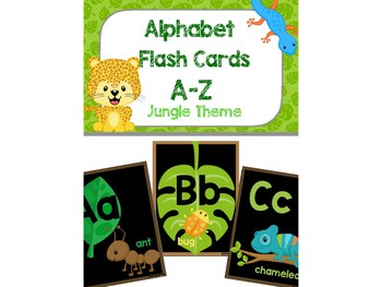 Alphabet Flashcards - Jungle Theme