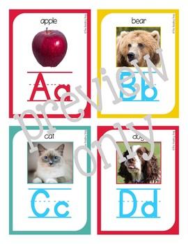 Alphabet Flashcards & Literacy Center