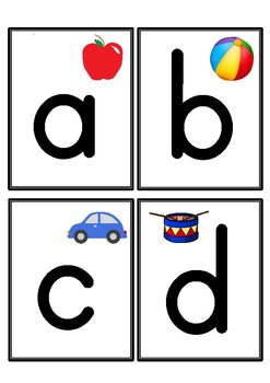 photo relating to Printable Letter Flashcards named Alphabet Flashcards (Lowercase Letters Just)