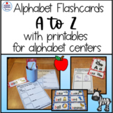 Alphabet Flashcards Word Wall cards with Printables Litera
