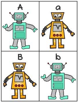 Robot Alphabet Flash Cards