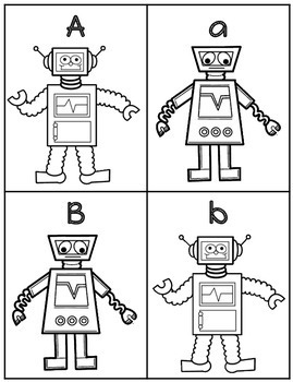 Robot Alphabet Flash Cards