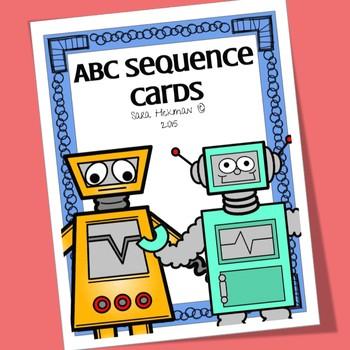 Robot Alphabet Flash Cards By Sara Hickman Designs Tpt