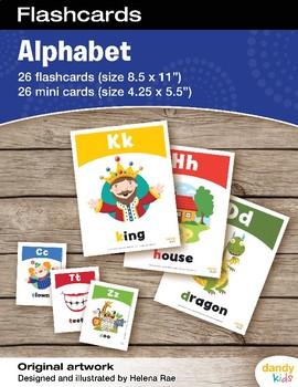 Alphabet Flashcards / Set of 26 / Printable