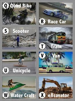 Transportation ABCs Flashcards
