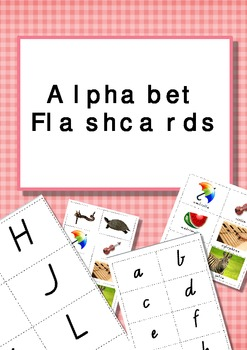 Alphabet Flashcards Upper- and Lower-Case