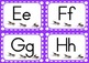 Alphabet Flashcards - Upper- and Lower-Case Insect Theme