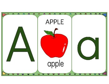 Alphabet Flashcards (Upper case and Lower case)