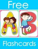 Alphabet Letters Flashcards - Preschool, Pre-K or Kindergarten Friendship Theme