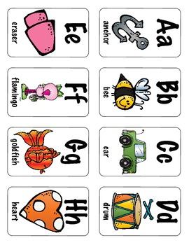 Alphabet Flashcards & Wall Posters (Bulletin Board Set) Set 1