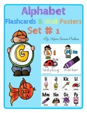 Alphabet Flashcards & Wall Posters (Bulletin Board Set) Set 1