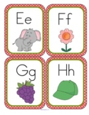 "Alphabet Flashcards with ""Cute"" Style Pictures"