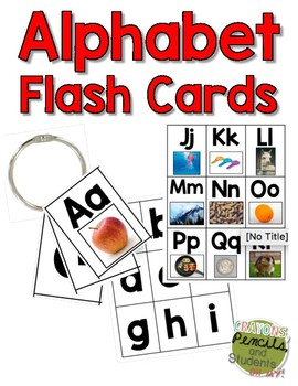 Alphabet Flashcards With Photographs