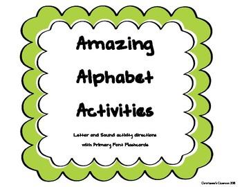 Alphabet Flashcards and Activity Ideas