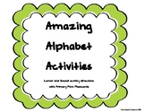 Alphabet Flashcards and Activity Ideas