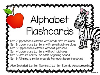 Alphabet Flashcards and Assessments