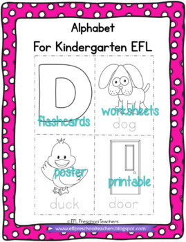 Alphabet Flashcards and Posters for ELL