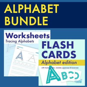 Alphabet Flashcards and Worksheet Bundle
