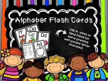 Alphabet Flashcards for initial sound and letter recognition