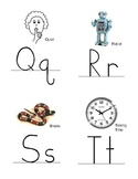 Alphabet Flashcards (for reviewing letters and sounds)