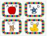 Back to School with Alphabet Letters and Pictures Flashcar