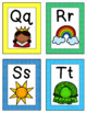 Alphabet Flashcards with Colorful Borders!