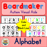 Alphabet Flashcards with Pronunciation - Boardmaker Visual Aids for Autism
