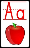Alphabet Flashcards with Red Vowels