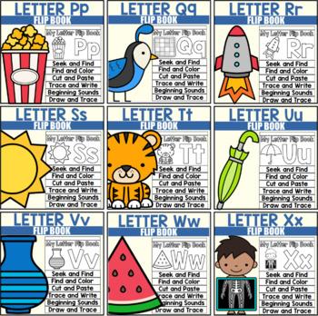 Alphabet Flip Book Bundle for Letters A-Z