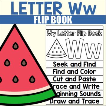 Alphabet Flip Book for Letter W