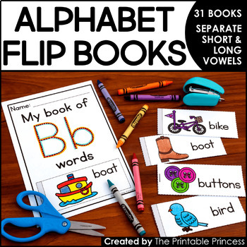 Alphabet Books: Flip Books to Teach Letters and Sounds | TpT