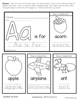 Alphabet Flip Books (Colored and Black and White) Copywork A-Z