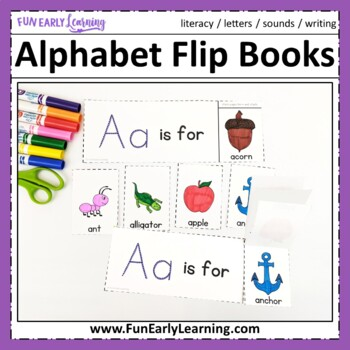 Alphabet Flip Books - No Prep Interactive Worksheets
