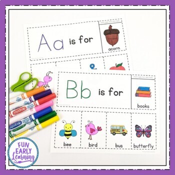 Alphabet Flip Books - No Prep Interactive Worksheets