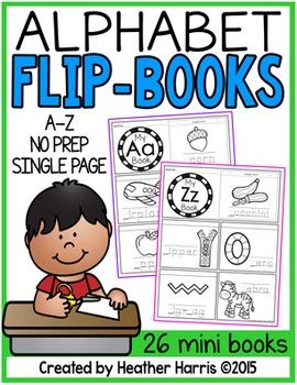 Alphabet Flip Books- no prep mini books