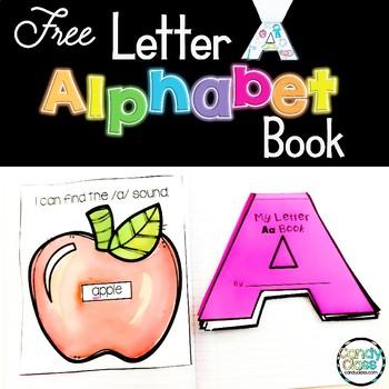 Alphabet Book -Letter A- Letter Recognition, Handwriting & Beginning Sounds