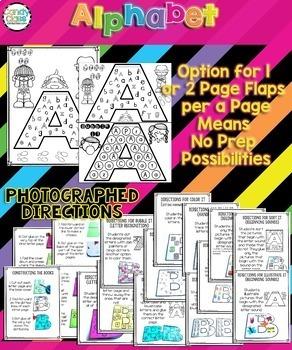 Alphabet Books Bundle for Letter Recognition, Beginning Sounds & Handwriting