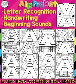 Alphabet Activities Bundle- Alphabet Books for Letter Sounds & Recognition