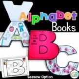 Digital Alphabet Activity Books Seesaw Kindergarten Phonics Reading Intervention