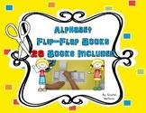 Alphabet Flip Flap Books Literacy Activity/Center 26 Books Included