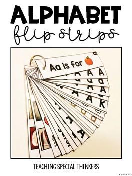 Alphabet Flip Strips #spedprepsummer1